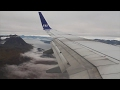 SAS Scandinavian Airlines 737-700 Oslo-Tromsø Safety, Takeoff, Inflight, Landing