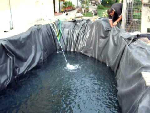 Ampliamento laghetto carpe koi nel giardino di casa 2 for La casa nel laghetto