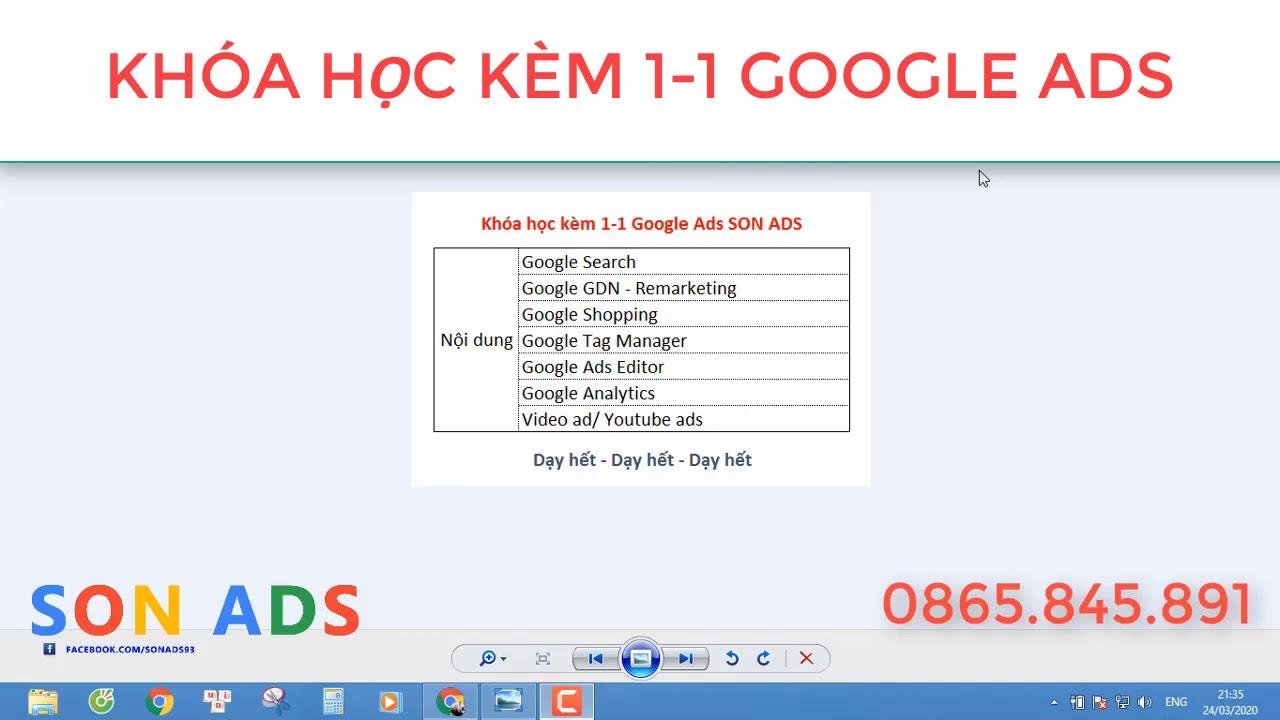 Khóa Học Kèm 1-1 Google Ads – Hotline 0865845891