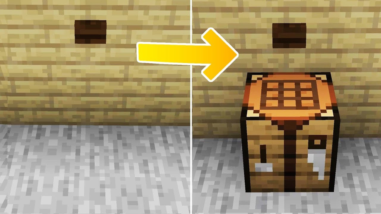 Hidden Crafting Table Mechanism In Minecraft Youtube