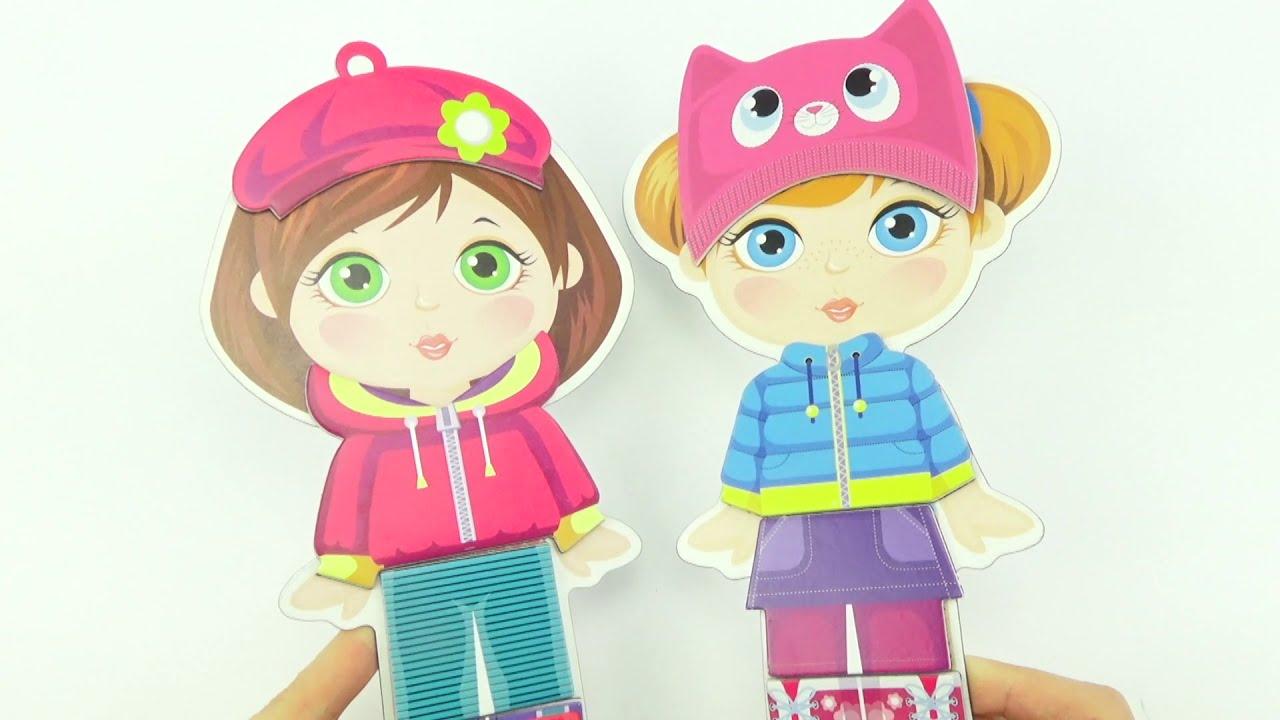 Игровой набор магнитные одевашки. Игрушки для детей