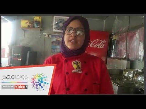 رنا فتاة تقتحم سوق العمل بـ عربية مأكولات  فى بنها  - 11:54-2019 / 3 / 24