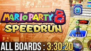 Mario Party 8 All Boards Speedrun in 3:30:20 (Easy)