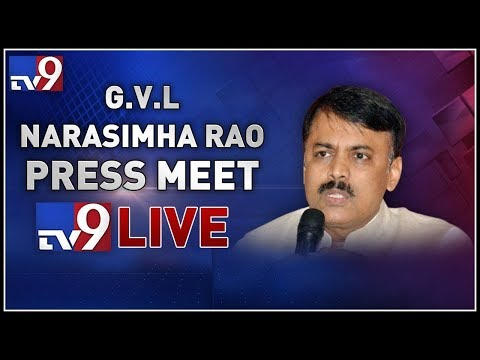 BJP MP GVL Narasimha Rao Press Meet LIVE || Vijayawada - TV9