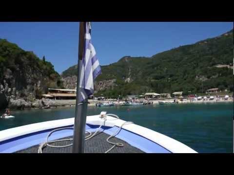 Paleokastritsa boat trip - returning to dock (June 20, 2012)