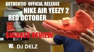 Nike Air Yeezy 2 Red October Sneaker Review + On Feet + Glow Test W/ Dj Delz