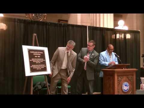 Unveiling Cleveland City Hall Centennial Plaque