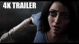 Alita Battle Angel Trailer 4K (2018 Live Action)