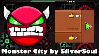 Monster City (Demon) by SilverSoul + a Crazy Bug (Glitch)!! - Geometry Dash | EpicPersonGaming