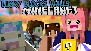 Lucky Blocks Walls War | Stacy, Yammy & Joey