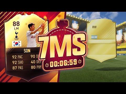 INSANE CARD PACKED!! 88 SIF SON 7 MINUTE SQUAD BUILDER VS CAPGUN!! - FIFA 17 ULTIMATE TEAM