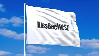 KissBeeWESTの旗が風になびく動画。 アニメーションGIF、透過PNGのデー...
