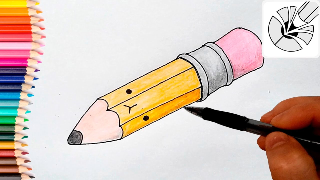 How To Draw A Cute Pencil And Color Easy Drawing Tutorial Youtube