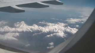 Alitalia A333-200 over the Alps Rome to Chicago Flight  Airbus Mountains