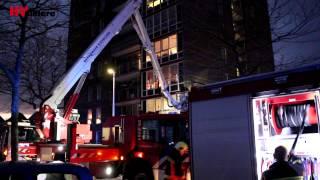 Flinke woningbrand op 7e etage flat Messiaenplantsoen