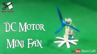 DIY - How To Make Fan With Motor | Best Out Of Waste From Ice Cream Stick | DC Motor Project