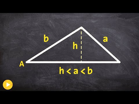 Pre-Calculus - How to determine when you have two solutions for an oblique triangle