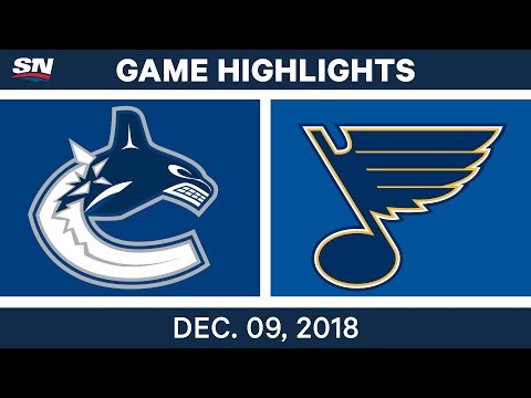 NHL Highlights | Canucks vs. Blues - Dec 9, 2018