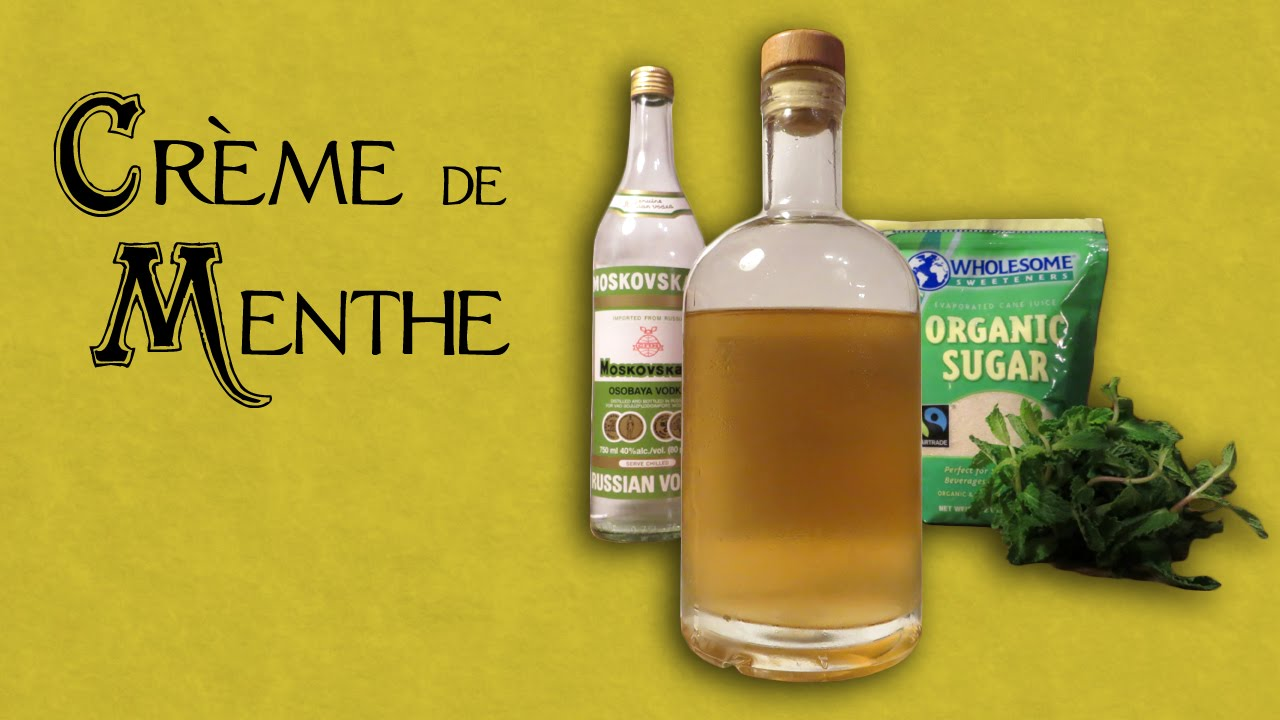 How to Make Crème de Menthe - an Easy Homemade Mint Liqueur with ...