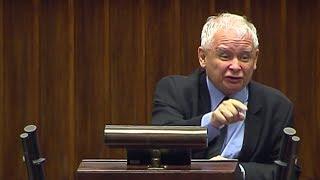 Justizreform in Polen: : Jaroslaw Kaczynski stürmt aufgebracht das Rednerpult