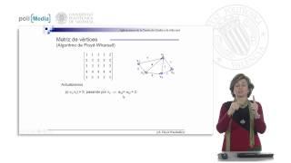 Teoría de Grafos en la vida real. Grafos ponderados. Algoritmo de Floyd-Warshall (2).© UPV