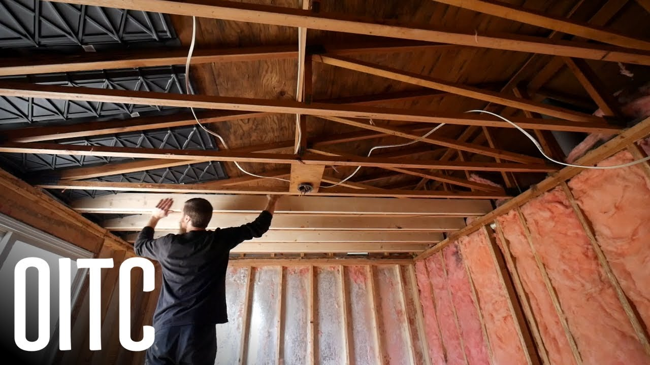 Reinforcing the Ceiling for Drywall   Home Renovation #3 on mobile home outdoor ideas, mobile home with vaulted ceilings, mobile home lighting ideas, mobile home chimney ideas, mobile home garden ideas, mobile home foundation ideas, mobile home diy remodeling, mobile home door ideas, mobile home shower ideas, mobile home space ideas, mobile home makeovers before and after, mobile home window ideas, mobile home furnishings ideas, mobile home master bedroom decorating ideas, mobile home fence ideas, mobile shops ideas, mobile home bar ideas, mobile home addition ideas, mobile home painting ideas, mobile home room ideas,