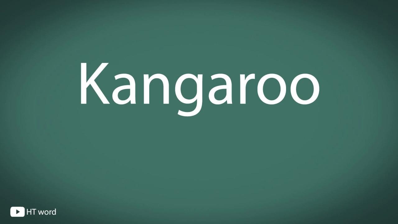 How to pronounce Kangaroo