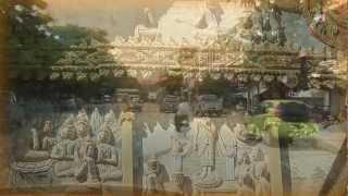 Temples,Wat Si Muang,Wat Sisaket,Vientiane,ວຽງຈັນ Laos.Full HD.