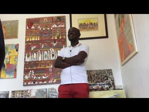 uganda person interview 180319 Jjuuko Hoods Kampala Asante Art Gallery