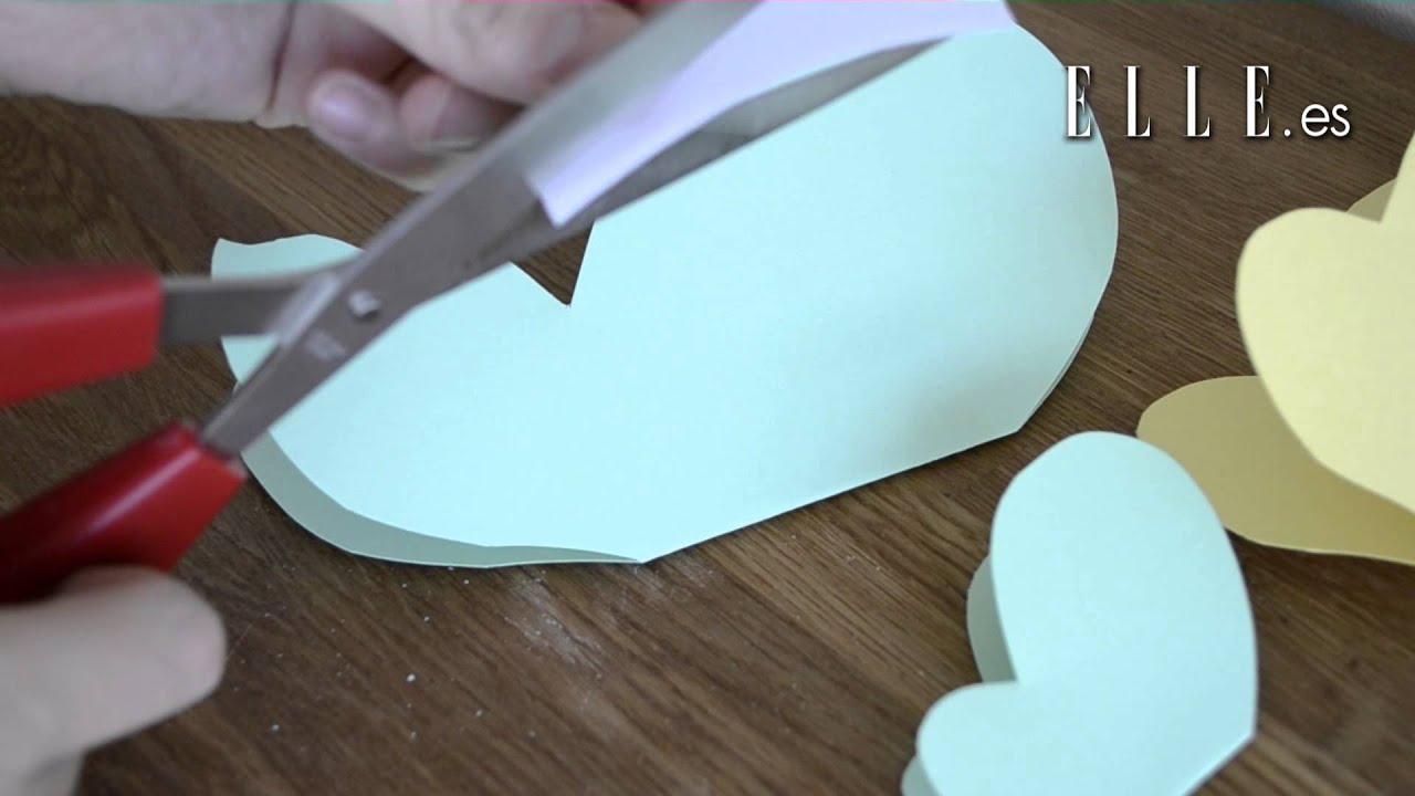 Mariposas de papel diy youtube - Como hacer mariposas de papel para decorar paredes ...