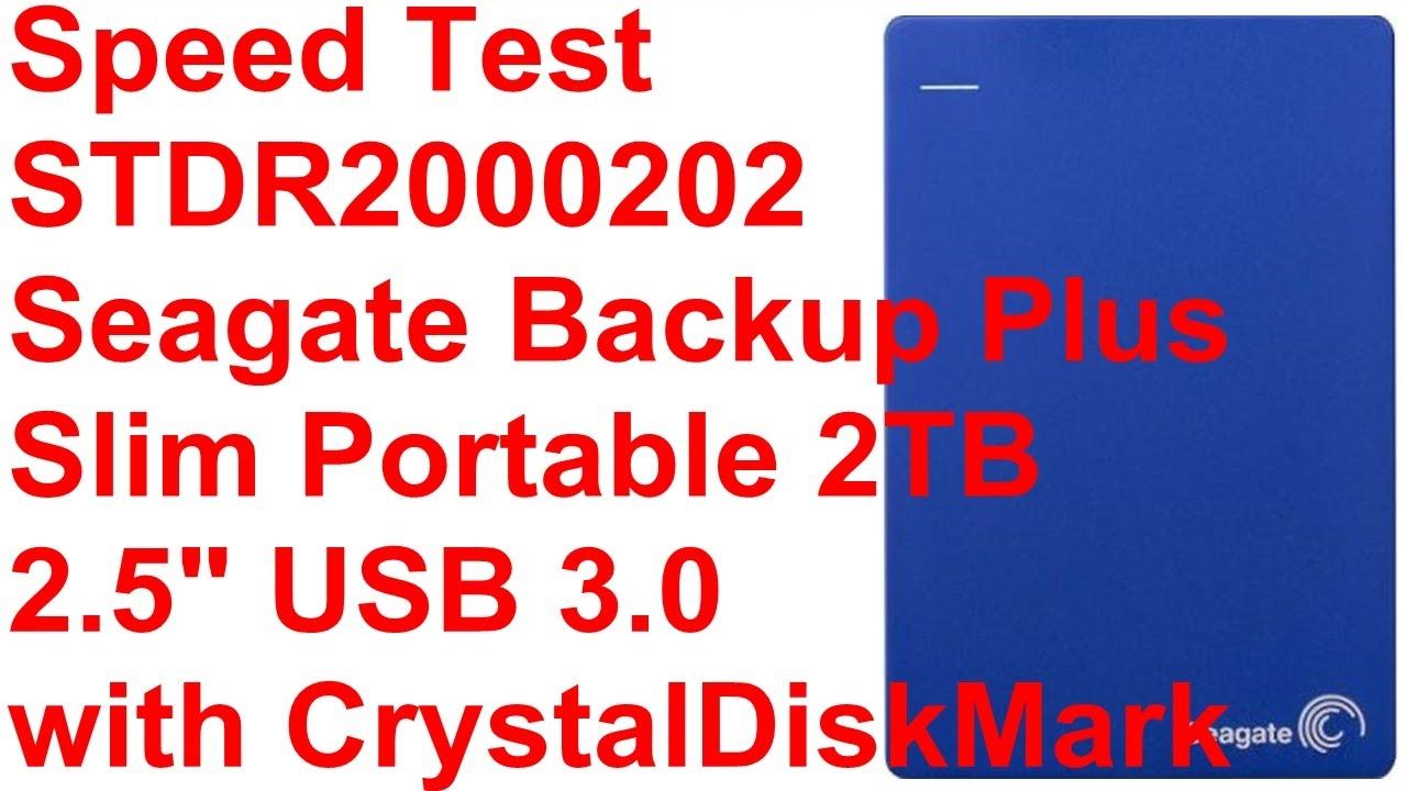 redigitt #097 Speed Test Seagate Backup Plus Slim Portable 2TB 2 5 USB 3 0  with CrystalDiskMark STDR