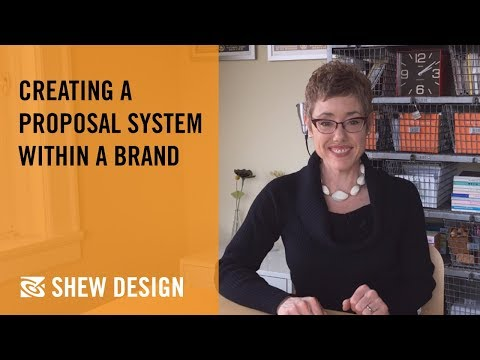 Shew Design: creating a proposal system within a brand