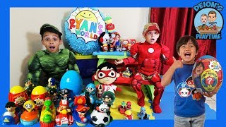 RYAN TOY'S REVIEW GETS RESCUED BY DEION'S PLAYTIME | PRETEND PLAY