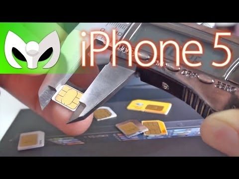 how to make smaller sim fit into iphone 4