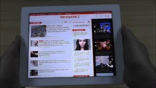 Prezentare Mediafax.ro HD pentru iPad