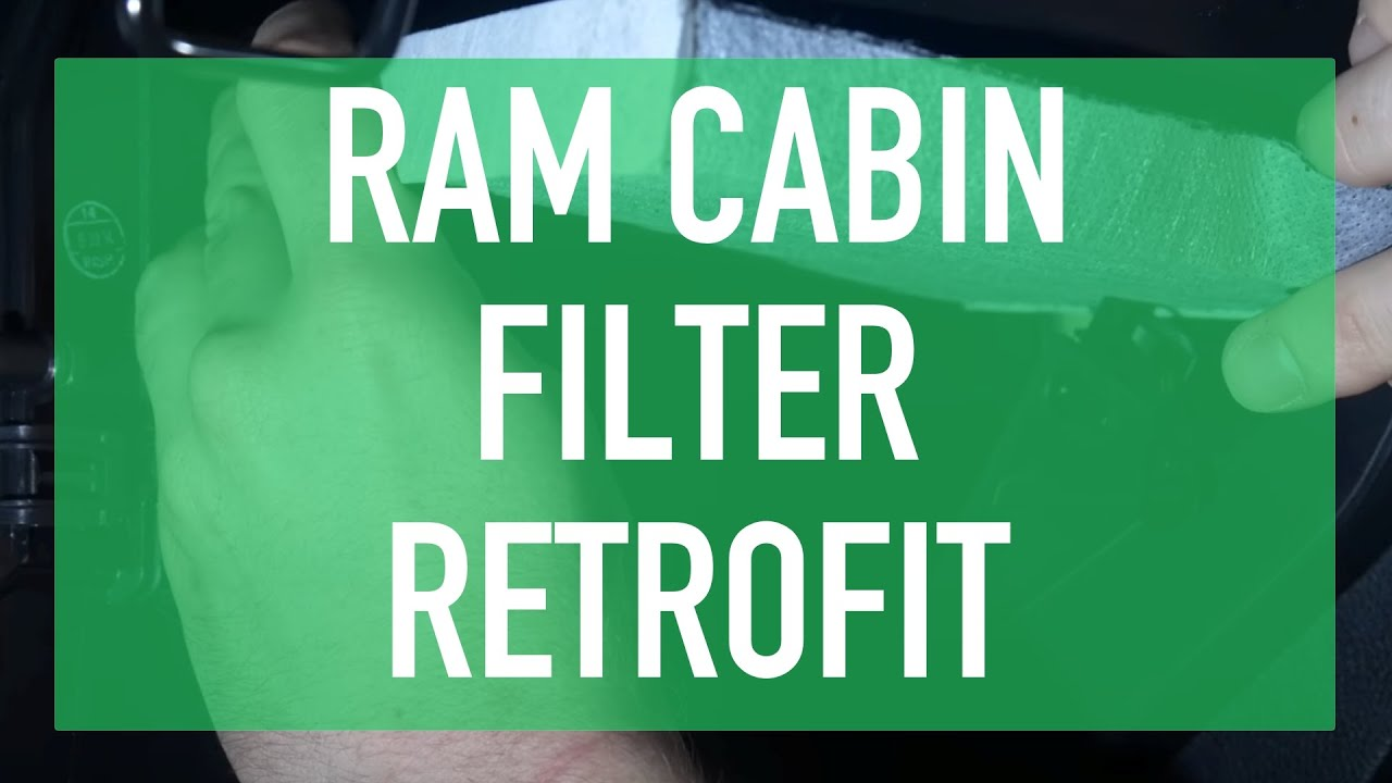 Dodge Ram Ecodiesel >> How to Install Ram 1500 Cabin Filter - YouTube