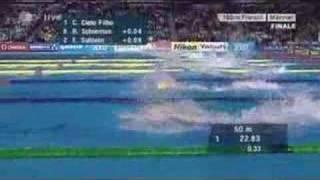 Schwimm WM 2007 Melburne 100Freistil Männer Magnini+Hayden