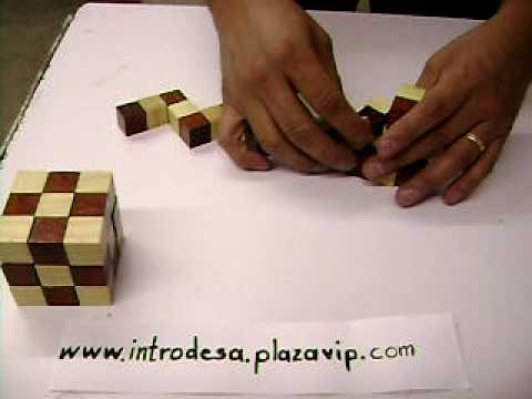 Cubo serpiente puzzle rompecabezas de madera soma youtube - Cubos de madera ...