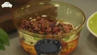 Салат с красной фасолью острый [Рецепты по-домашнему]
