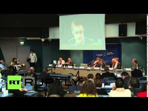 Выступление Эдварда Сноудена на слушаниях ПАСЕ
