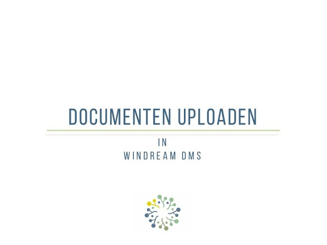 Een document uploaden in windream