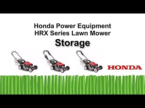 HRX217 Series Lawn Mower Storage
