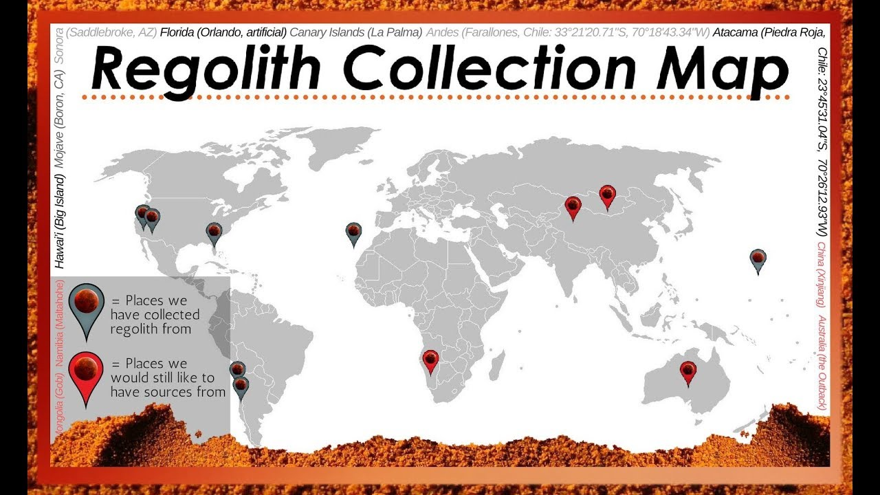 Florida Tech Map.Florida Tech Is Creating The Largest Database Of Mars Soil With