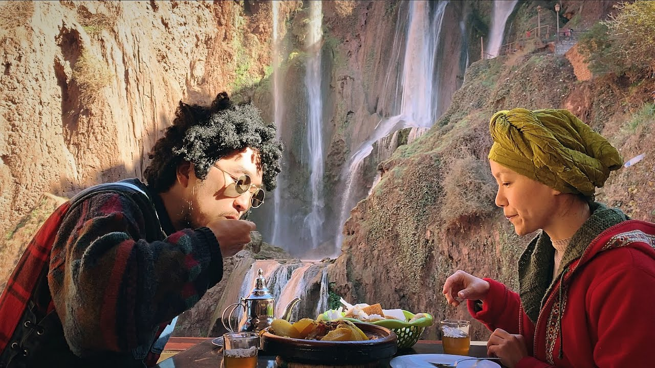 Download THE BEST LAMB TAGINE with Incredible Waterfall 🇲🇦 Travel Morocco