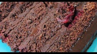 Шоколадный торт. Торт с вишней. Вишневый торт.Çikolatalı Vişneli Pasta Nasıl Yapılır?