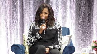 Michelle Obama telling how she first met Barack