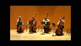 """Les 4 Contrebasses -  J.S. Bach : """"Air"""" de l"""