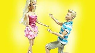 Барби мультик  Барби выбирает покупает Свадебное платье  В свадебном салоне  Видео с куклами для дев