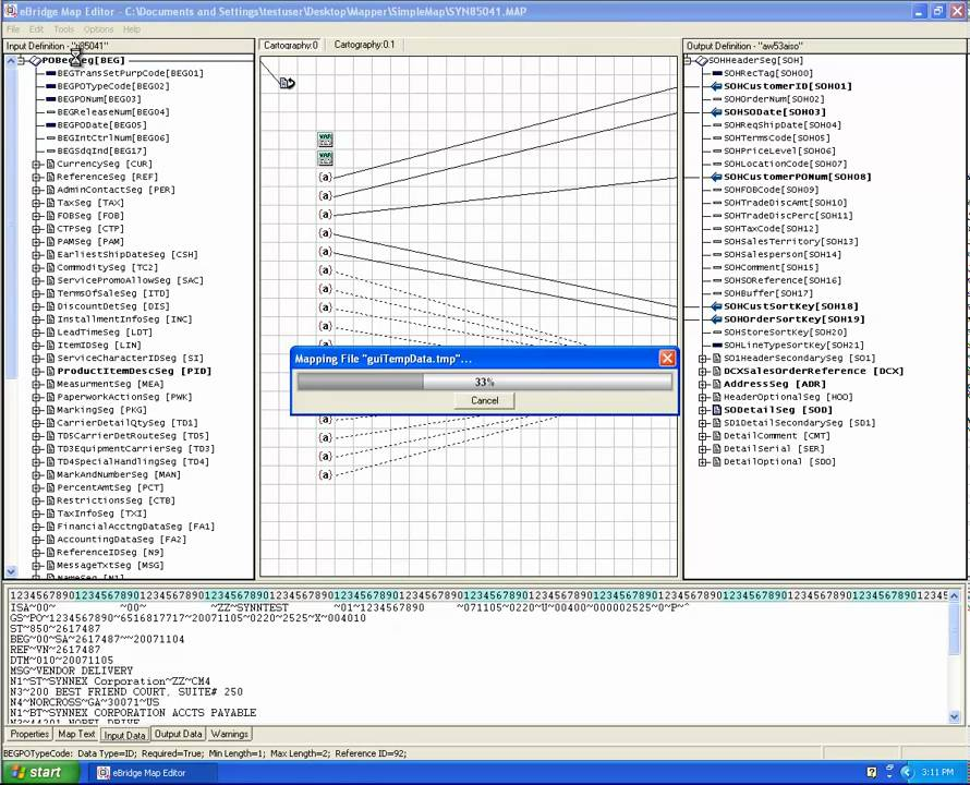 How to use an Graphical EDI Mapping Tool or Mapper Gentran Mapping Tutorial on