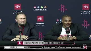 Russell Westbrook Cracks Jokes At Houston Rockets Intro Press Conference